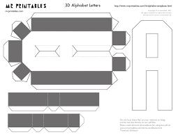 Templates Alphabet Letters Mrprintables 3d Alphabet Templates A To M
