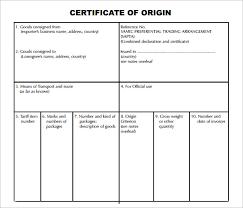 Letter Of Origin Sample Certificate Of Origin Template 14 Free Documents In Pdf Word