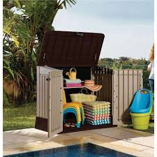 large outdoor storage box garden patio shed pool yard plastic tools safe utility 93328387595