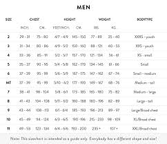 Picasso Wetsuit Size Chart Size Guides Adreno Spearfishing