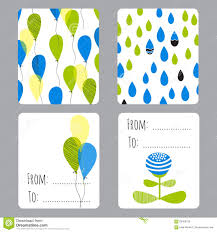 Small Card Template Earth Day Set Of Cards Stock Vector Illustration Of Label 68368725