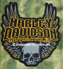 back patch harley davidson motorcycles skull wings gothic shop