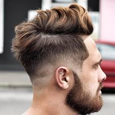 5 long messy hair with low fade