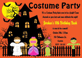 costume party invites awesome halloween birthday invitation and halloween costume party