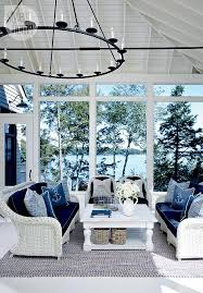 coast furniture and interiors. lake muskoka cottage with coastal interiors the stunning sunroom carries a blue and white motif comfortable wicker furniture nauticalthemed coast
