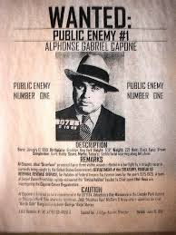Criminal Wanted Poster Adorable Al Capone Chicago Gangster Reward Depression Era Poster 48s