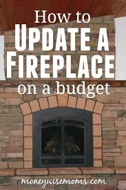 update brick fireplace how to update a fireplace on a budget ideas to update red brick