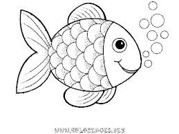 pre rainbow fish coloring sheet to print for free pages realistic