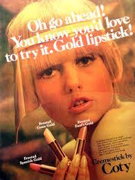1960s coty lipstick advert