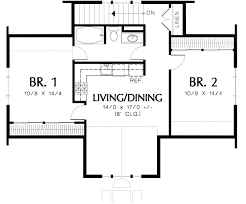 two bedroom house plans. 2 Bedroom House Plans With Garage Great 12 Plan 69395AM Two Guest Suite Over 3 Car Plan. » A