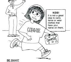 Stranger Danger Coloring Pages Stranger Safety Coloring Page
