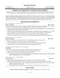 Mortgage Loan Officerume Samples Templates Commercial Template