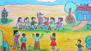 Hướng dẫn cách vẽ tranh đề tài trò chơi dân gian đơn giản