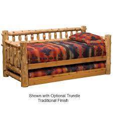 fireside lodge cedar log daybed