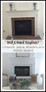 Gray Brick Fireplace How To Paint Your Brick Fireplace Surround 11 Magnolia Lane