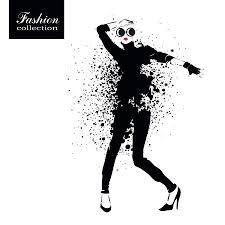 Fashion Girl In Sketch Style Vector Illustration موقع تصميمي