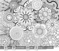 Small Picture Zentangle Flower Coloring Pages Coloring Pages