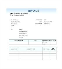 Service Invoice Template Free Word Excel Format Download Simple