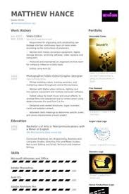 Video Editor Resume Templates Video Editor Resume Templates Rome Fontanacountryinn Com