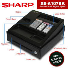 sharp electronic cash register. sharp xe-a107 cash register machinery electronic