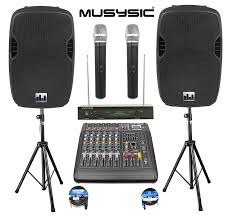 sound system. amazon.com: complete professional 2000 watts pa system 6 ch mixer 10\ sound o