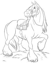 Free Printable Horse Coloring Pages For Kids Cricut Cutting File