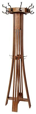 Revolving Coat Rack Hardwood Slat Mission Hall Tree from DutchCrafters Amish Furniture 68