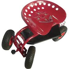 ironton rolling garden seat with