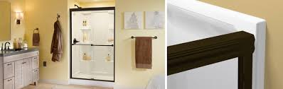 traditional style sliding shower door installation