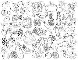 Legumes Dessin Image En Noir Sur Un Fond Blanc Dessin De Legumes De Fruits