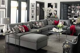 Gallery Of 10 Samples Image Gray And Red Living Room Ideas
