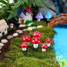 outdoor mushroom decor home decorating ideas mushroom garden decor mini red mushroom for miniature plant pots