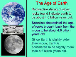 radioactive dating age of the earth