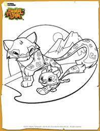 Animal Jam Snow Leopard Coloring Page Animal Jam Animal Jam