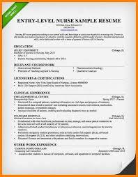 Brilliant Ideas Of Sample Rn Resume Entry Level Sample Entry Level