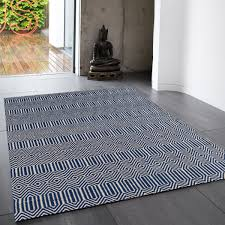 sloan blue geometric rug by asiatic 1