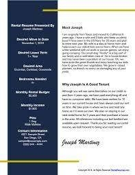 RentalResumes Easy PDF Rental Resume Builder Best Rental Resume