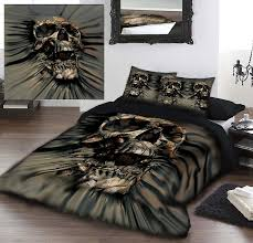 Skull Bedroom Curtains Beddings Awesome Skulls
