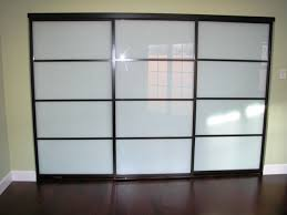 sliding doors frosted glass contemporary wardrobe