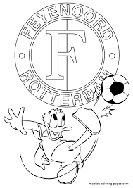Feyenoord Donald Duck Kleurplaat