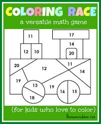 Math Game For Kids Coloring Race Combines Math And Coloring The