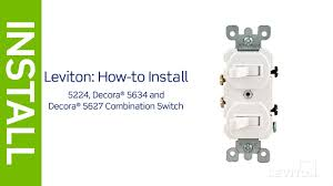leviton presents how to install a combination device with two Leviton Double Switch Wiring Diagram leviton presents how to install a combination device with two single pole switches leviton double pole switch wiring diagram