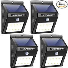 URPOWER <b>Solar Lights</b> Wireless <b>Waterproof</b> Motion Sensor ...