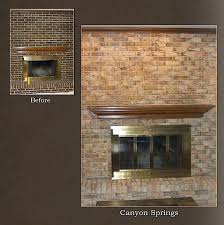 refinish brick fireplace reface with stone cost refinish brick fireplace