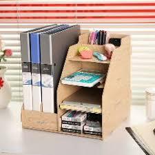 office desktop storage. Combination Multifunctional File Box Wool Column Desktop Storage Data Rack Stationery Office Desk Organizer R