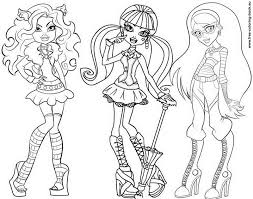 Small Picture Halloween Coloring Pages Monster High Coloring Pages