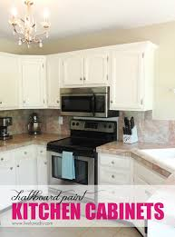 White Kitchen Cabinet Makeover Livelovediy The Chalkboard Paint Kitchen Cabinet Makeover