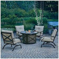 5 piece fire table chat set at big lots wilson fisher patio furniture