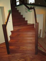 installed prefinished flooring and stairs