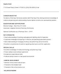 Pharmacy Technician Resume Magnificent Pharmacy Technician Resume Template Hospital Tech Sample Samples
